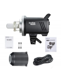 Godox MS200 flash de estudio con accesorios