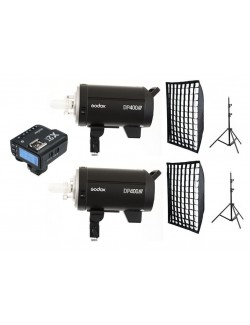 Kit 2 Godox DP400III flashes de estudio para usuarios Canon