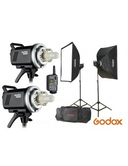 Kit Godox MS300-F - Incluye 2x flashes MS300, accesorios y maletin de transporte